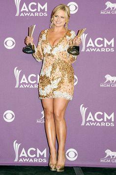 Miranda Lambert at the 2012 ACM Awards. Miranda Lambert Photos, Cma Awards, Country Music Stars, Teen Choice Awards, Hollywood Star, Peplum Dress, Singer, Country Artists, Female