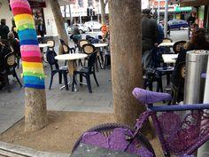 Yarn Bombing in Coburg Mall - Bike and Tree