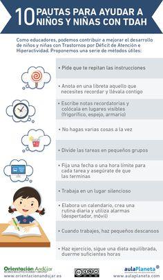 10 pautas para ayudar a niños y niñas con TDAH #Infografía