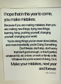 Make mistakes; love