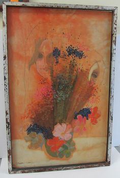 C1960 Painting by Sifuentes Velario 36 x 23  Auction Estimate 200-400