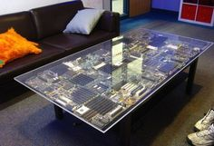 When it comes to home furnishings, you just can't beat a bit of geek influence! Geek chic is a big and popular niche these days, and we think the geekier you are, the cooler you are! Here are some of our favourite geeky designs which will make your home great! The Motherboard of coffee tables …