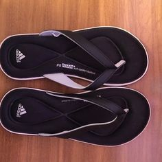Adidas flip flops Adidas Fit Foam flip flops in excellent condition. Hardly worn if worn at all. Size 6 women's Adidas Shoes