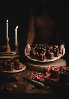 Caneles de Bordeaux (French Custard Rum Cakes) – The Kitchen McCabe - Pastry Canele De Bordeaux, Dark Food Photography, Rum Cake, French Pastries, Italian Pastries, Pudding, Macaron, Chocolate, Biscuits