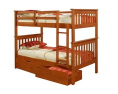 Twin Over Bunk Bed With Dual Storage Drawers In Espresso And Free Shipping Nationwide Http Www Bunkbedkingdom Com