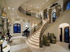 Dallas Luxury Homes Dallas Luxury Real Estate Future House, My House, Grand Entryway, Grand Entrance, Entryway Stairs, Entrance Foyer, Main Entrance, Entry Hall, Entrance Halls