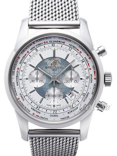 Breitling Transocean Chronograph Unitime/Paper White. Now available at Diamond Dream Fine Jewelers https://www.facebook.com/pages/Diamond-Dream-Fine-Jewelers/170823023636 https://www.diamonddreamjewelers.com info@diamonddreamjewelers.com 908.766.4700
