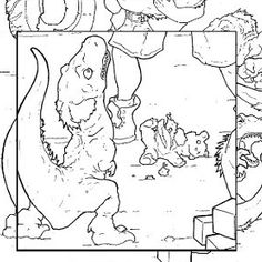 Baby Dinosaurs Coloring Page For Adults