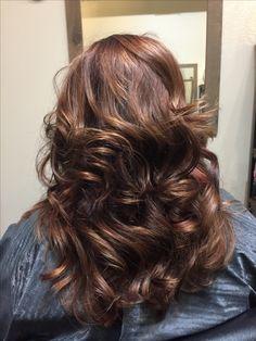 Subtle red with viloet undertones #hairbycassierizzi #salon.231