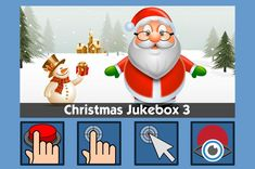 Christmas Jukebox 3 - free teaching activity for switch, touchscreen, pointing device and eye gaze users. Use online or download for Windows PC.
