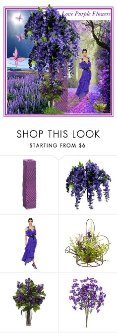 """Mom's Purple Flowers"" by sylvia-cameojewels ❤ liked on Polyvore featuring Bitossi, Alberta Ferretti, National Tree Company, Nearly Natural, polyvorecontest, artexpression and artcreativity"