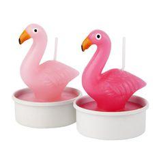Flamingo Tea Light Candles - Set of 6