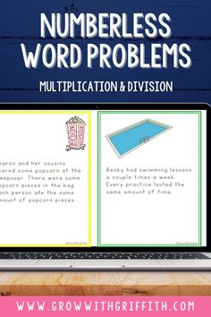 Take the guess work out of word problems! Use numberless addition & subtraction word problems - a great math word problem strategy that helps students learn how to solve 1-step and 2-step story problems! Students will really THINK about what operations to use in the problem. These Google Slides math activities break a word problem into pieces & introduces numbers one at a time. Perfect for distance learning, math intervention time, 3rd grade math morning work & math centers… Primary Maths Games, Math Activities, Math Rotations, Math Centers, Math Vocabulary, Math Intervention, Math Word Problems, Critical Thinking Skills, 5th Grade Math
