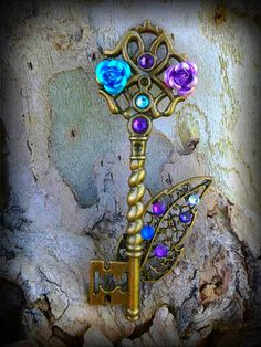 Mystic Mists Fantasy Key by ArtbyStarlaMoore on Etsy, $15.00