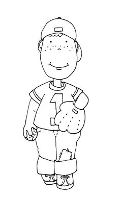 Free Dearie Dolls Digi Stamps: May 2014 Sports Coloring Pages, Printable Adult Coloring Pages, Colouring Pages, Coloring Books, Needlepoint Patterns, Embroidery Patterns, Doodle People, Kids Calendar, Baseball Boys