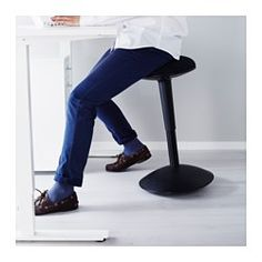 IKEA - NILSERIK, Standing support, white/Vissle green, , Gives an active sitting position, which improves your posture.You can easily adjust the height by using 1 of the 3 easy-to-reach knobs underneath the seat.You sit comfortably thanks to the padded seat.Has a curved base, which helps you find a comfortable, tilted sitting position.Practical and comfortable swivel function.