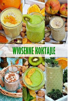 Wiosenne koktajle Breakfast Options, Cocktails, Drinks, Healthy Smoothies, Fruits And Veggies, Hummus, Cucumber, Frozen, Food And Drink