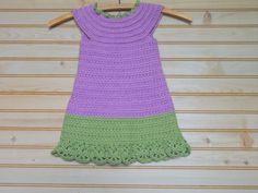 Spring Colored Crochet Easter Dress by TeacherHomemade on Etsy