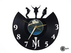 Michael Jackson clock, MJ vinyl record clock www.revinylit.com