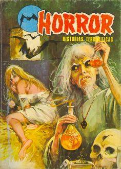 Mmorpg 2017 her horror there Pulp Fiction Art, Horror Fiction, Pulp Art, Horror Tale, Horror Films, Horror Books, Sexy Horror, Horror Comics, Creepy Comics