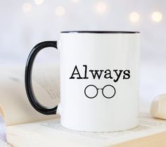 Items similar to Always Harry Potter fandom gift. Gift idea for bookworms inspired by Harry Potter. Funny gift for book lovers. on Etsy Grandma Mug, Grandmother Gifts, Mugs Set, Tea Mugs, Book Lovers Gifts, Gifts In A Mug, Funny Mugs, Funny Gifts, Personalised Name Mugs