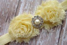 Baby headband flower headband headband shabby by ThinkPinkBows, $7.95