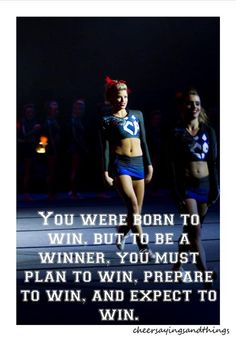 """you were born to win, but to be a winner, you must plan to win, prepare to win, and expect to win...... should say """"you wereN""""T born to win"""""""