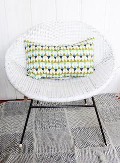 Housse de coussin 50 x 30 motifs Triangles décoration scandinave : Textiles et…