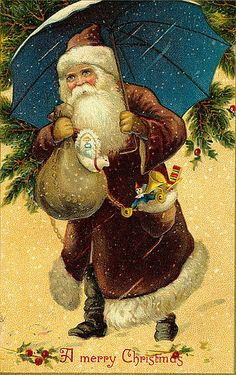 Vintage Santa/Christmas Postcard by Suzee Que, via Flickr