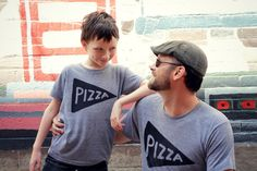 Matching Father Son Shirts, Father Daughter Pizza T shirts / gift for dad, 2 tees, matching family set, fathers day gifts from kids, new dad