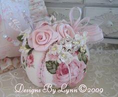 Pretty Pink Shabby Pincushion