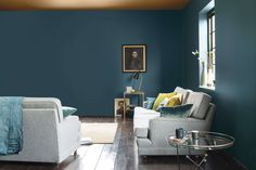 """I'm often asked about whether to do the """"feature wall""""?  To help choose the right colour, a top tip I always use is to paint the sample onto an art canvas and hang it up in different spots in the room.  This way you can see how the colour looks in different lights and you can be more confident before committing fully."""