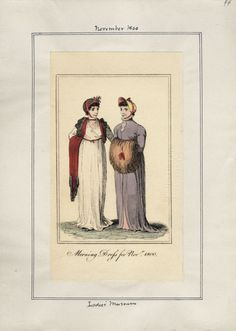 Ladies' Museum, Morning Dress for November 1800.