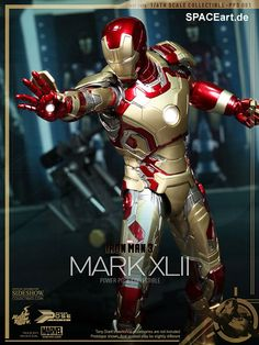 Iron Man 3: Iron Man Mark XLII - Power Pose, Fertig-Modell, http://spaceart.de/produkte/irm007.php