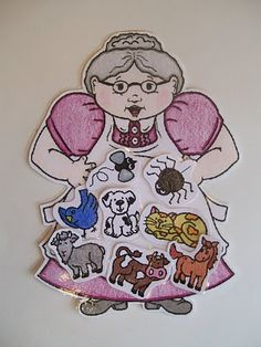 I Know An Old Lady Who Swallowed A Fly printable. Laminate and put felt on the back for felt board.