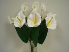 CREAM Foam Large Calla Lily Bush Artificial Flowers 20' Bouquet 550CR *** Read more reviews of the product by visiting the link on the image.