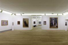 Edificio de Ampliación, sala 19, con pintura y escultura fin de siglo, principalmente vinculada al Modernismo catalán (Anglada-Camarasa, Casas, Mir). Fotografía: Marcos Morilla.