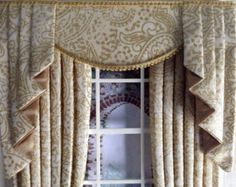 how to make swag and tail curtains for doll house - Google Search
