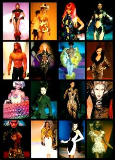 Thierry Mugler collection of the 90's. Cool to see where the style all began! #Mugler #ThierryMugler #90sFashion