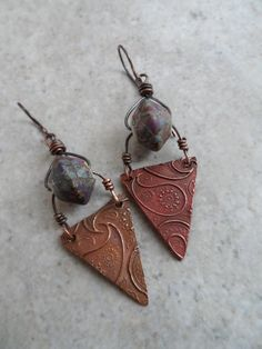 RESERVED Paisley not Brad ... Lampwork and Copper by juliethelen