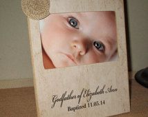 Personalized Godfather Gift Picture Frame Custom Personalized Gift for Godfather Personalized Godfather Gift Christening Baptism