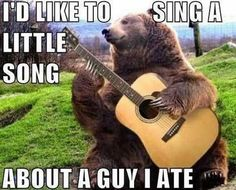 Amazing Animal Memes- Guitar playing bear