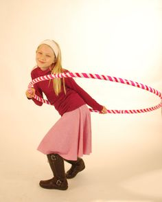 Valentines Day Skirt  Circle Skirt  Mini Stripe Pink by SoulRole, $40.00