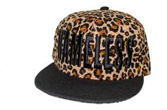 Cheetah Hat Black Bill Adjustable Snapback Cap