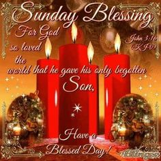 Sunday Blessing, John 3:16- Have a Blessed Day!