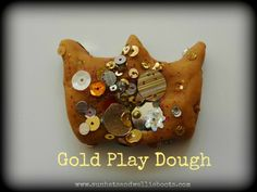 Gold Play Dough!  Ideal for making crowns, coins, jewelry & other artifacts. Make your own Golden Globe or Oscar, or set of Olympic medals!
