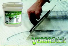 "VersaStick is a versatile ""universal"" adhesive for luxury vinyl tile/plan and multi-ply engineered plank hardward flooring that trowels on easily. Very user-friendly. Does not set or harden in its container when exposed to the atmosphere. Therefore it can be used for multiple jobs or one job over a couple of days. (Also allows you to take phone call in the middle of a project.)"