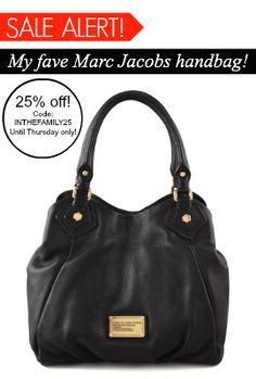 SALE ALERT!!  I wear this #MarcByMarcJacobs #handbag everyday - it's the best!  On sale now through Thursday (October 18) with code INTHEFAMILY25. #Shopbop