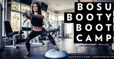 These 7 exercises are going to help perk up, fill out and tone your butt! All you need is your BodyRock Balance Trainerand a yoga mat ! To get a special offer on a BodyRock Balance Trainer click here!  Hip Lifts- 30 reps Lay on your back with your arms at your sides and ...