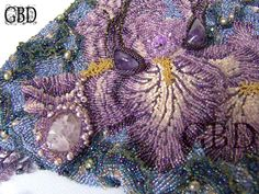 "My Dreams - ""Iris Mist"" Detail, man this is just incredible! Love all the amazing textures!"